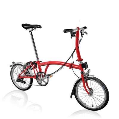 Brompton S-Series-Folding Bikes-Brompton-6-speed-L-type-Red-Bicycle Junction