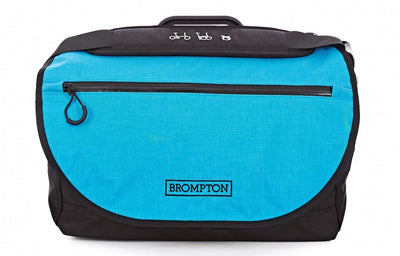 Brompton S Bag-Folding Accessories-Brompton-Black - Lagoon blue flap-Bicycle Junction