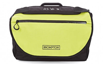 Brompton S Bag-Folding Accessories-Brompton-Black - Lime green flap-Bicycle Junction