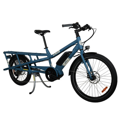 Yuba Spicy Curry Bosch V3-E-Cargobikes-Yuba-Blue-Bicycle Junction