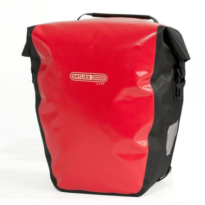 Ortlieb Back Roller City-Bags-Ortlieb-Red-Black-Pair-40L-Bicycle Junction
