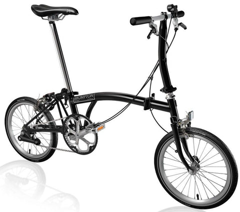 Brompton S2E-Folding-Brompton-Black Series-Steel-Bicycle Junction