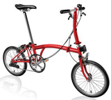 Brompton S2E-Folding-Brompton-Red-Steel-Bicycle Junction