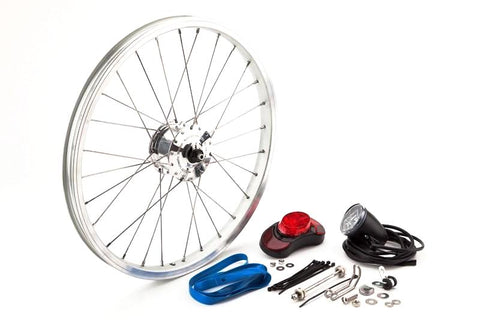 Brompton - SON Hub Dynamo set Complete-Folding Parts-Brompton-Default-Bicycle Junction