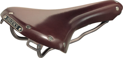 Brooks swallow classic titanium saddle-Saddles-Brooks-Brown-Bicycle Junction