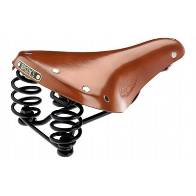Brooks Flyer S Ladies Saddle-Saddles-Brooks-Honey-Bicycle Junction