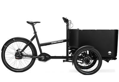 Butchers and Bicycles MK-1 E-E-Cargobikes-Butchers and Bicycles-Black-SRAM NX Derailleur gears-With Door-Bicycle Junction