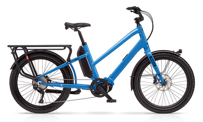 Benno Boost E 10D Step Through-E-Cargobikes-Benno-One size-Machine Blue-Bicycle Junction