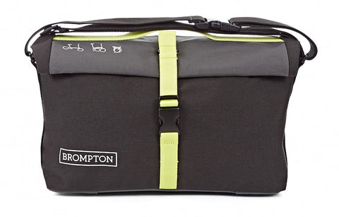 Brompton Roll Top Bag-Folding Accessories-Brompton-Black and Lime Green-Bicycle Junction