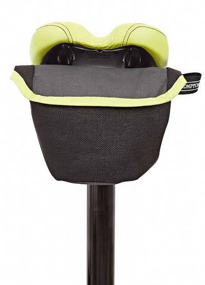 Brompton Saddle Pouch-Folding Accessories-Brompton-Grey and Lime green-Bicycle Junction