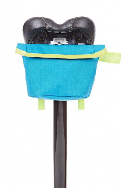 Brompton Saddle Pouch-Folding Accessories-Brompton-Lagoon blue and Lime green-Bicycle Junction