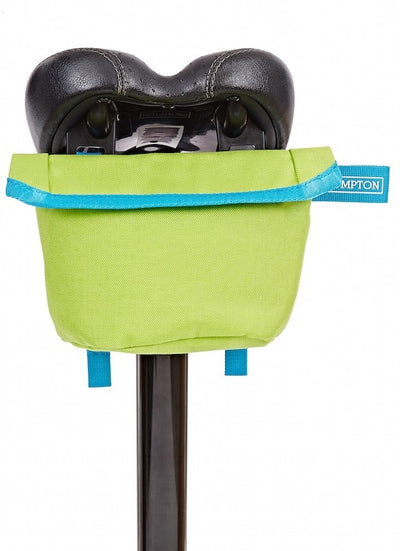 Brompton Saddle Pouch-Folding Accessories-Brompton-Lime green and Lagoon blue-Bicycle Junction