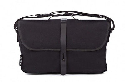 Brompton Shoulder Bag-Folding Accessories-Brompton-Black canvas-Bicycle Junction