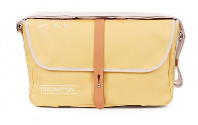 Brompton Shoulder Bag-Folding Accessories-Brompton-Yellow canvas-Bicycle Junction
