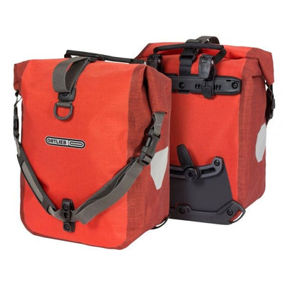 Ortlieb Sport Roller Plus-Bags-Ortlieb-Signal Red-Dark Chilli-Pair-25L-Bicycle Junction
