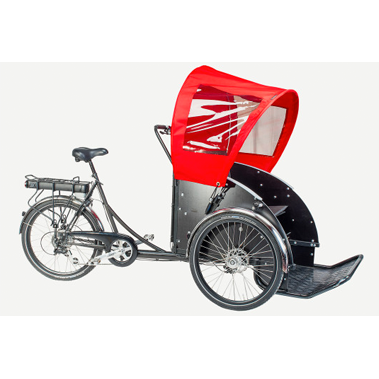 Christiania Taxibike - Hood and holder set-Christiania Accessories-Christiania-Red-Bicycle Junction