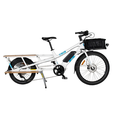 Yuba Spicy Curry Bosch V3-E-Cargobikes-Yuba-Blue/White-Bicycle Junction