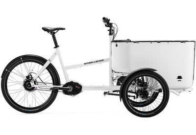 Butchers and Bicycles MK-1 E-E-Cargobikes-Butchers and Bicycles-White-SRAM NX Derailleur gears-With Door-Bicycle Junction
