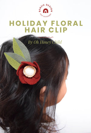 Holiday Floral Hair Clip