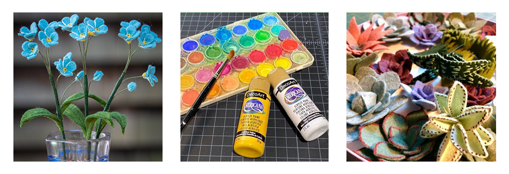 Coloring with acrylic paint