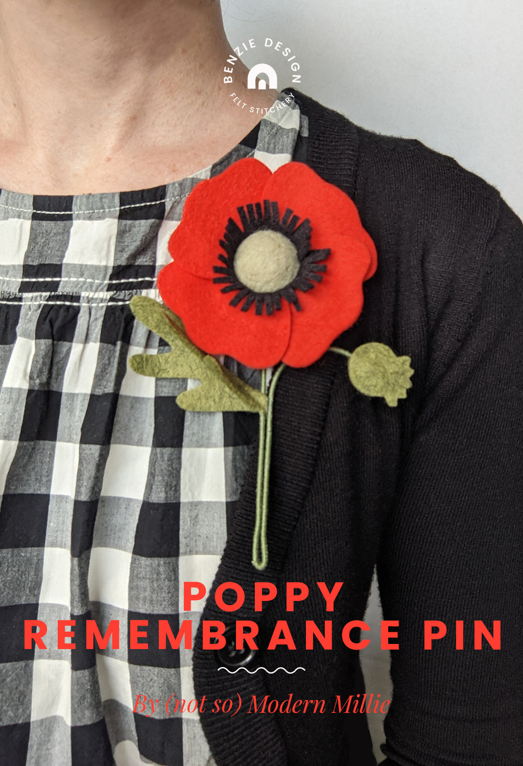 Poppy remembrance pin tutorial