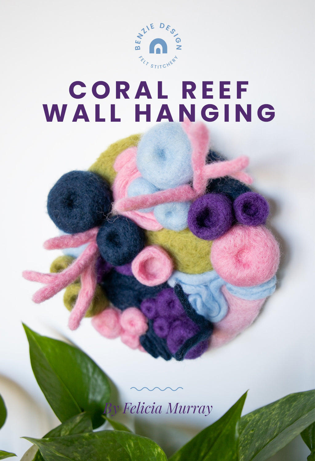Coral reef wall hanging tutorial
