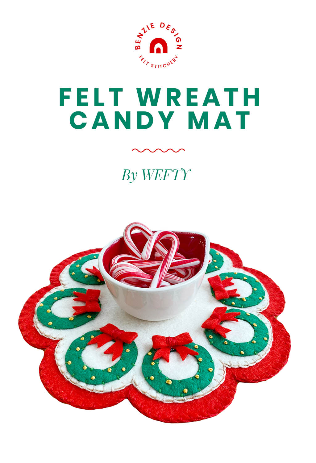 Felt Wreath Candy Mat Tutorial
