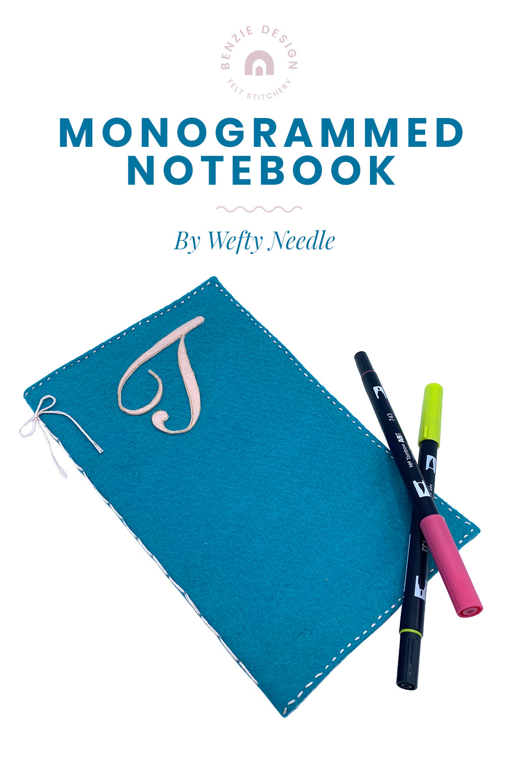 Monogrammed Notebook Tutorial