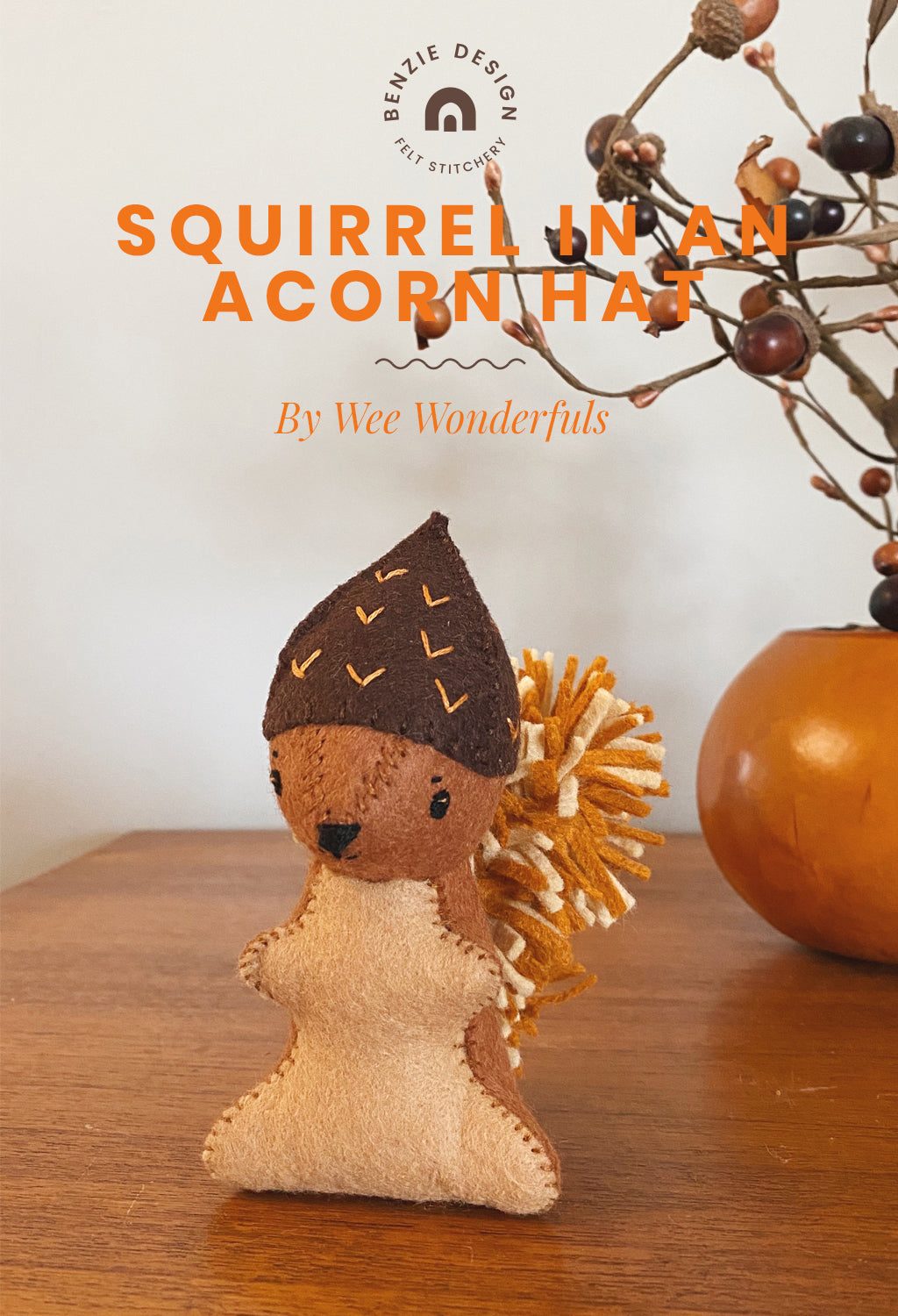 Squirrel In an Acorn Hat Tutorial