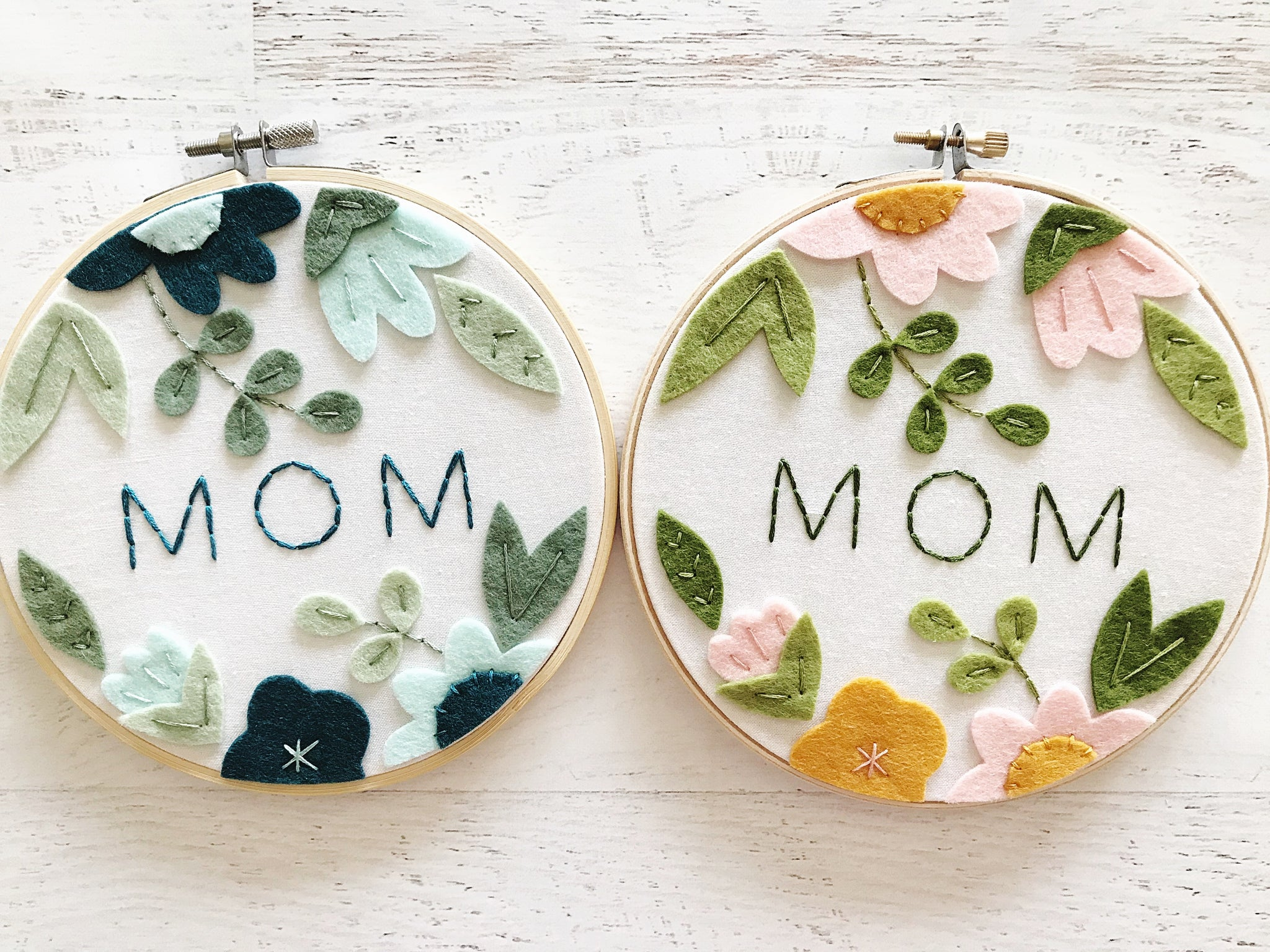 Finished Mother's Day hoops