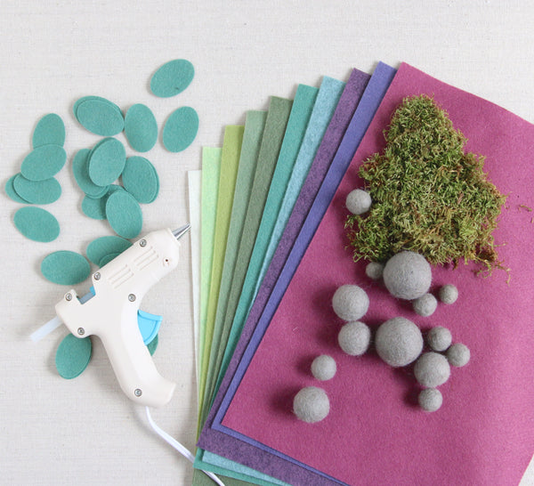 Succulent Felt Supplies