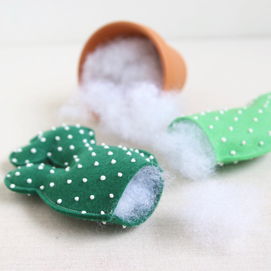 how to make a fabric cactus