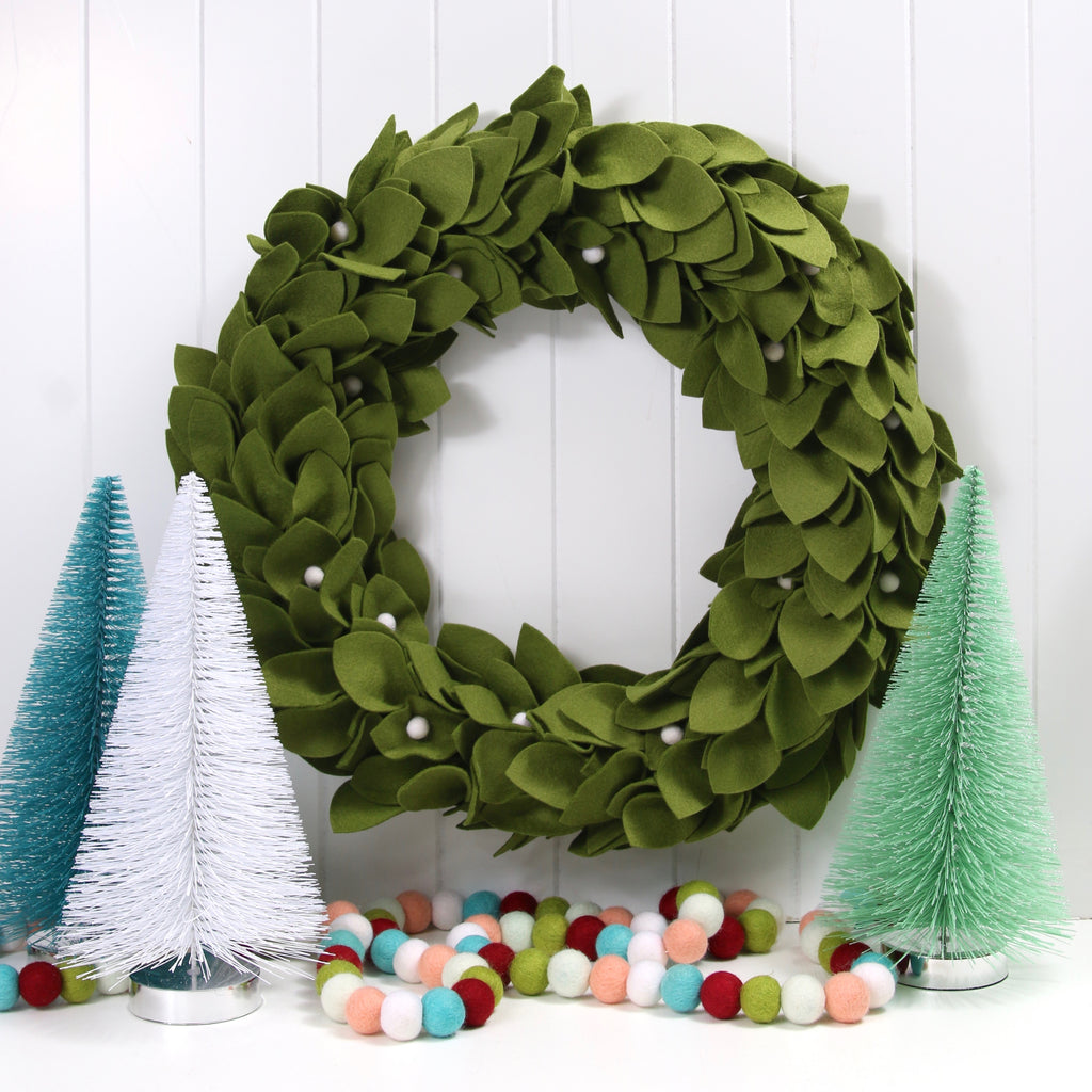 Felt DIY Greenery Wreath