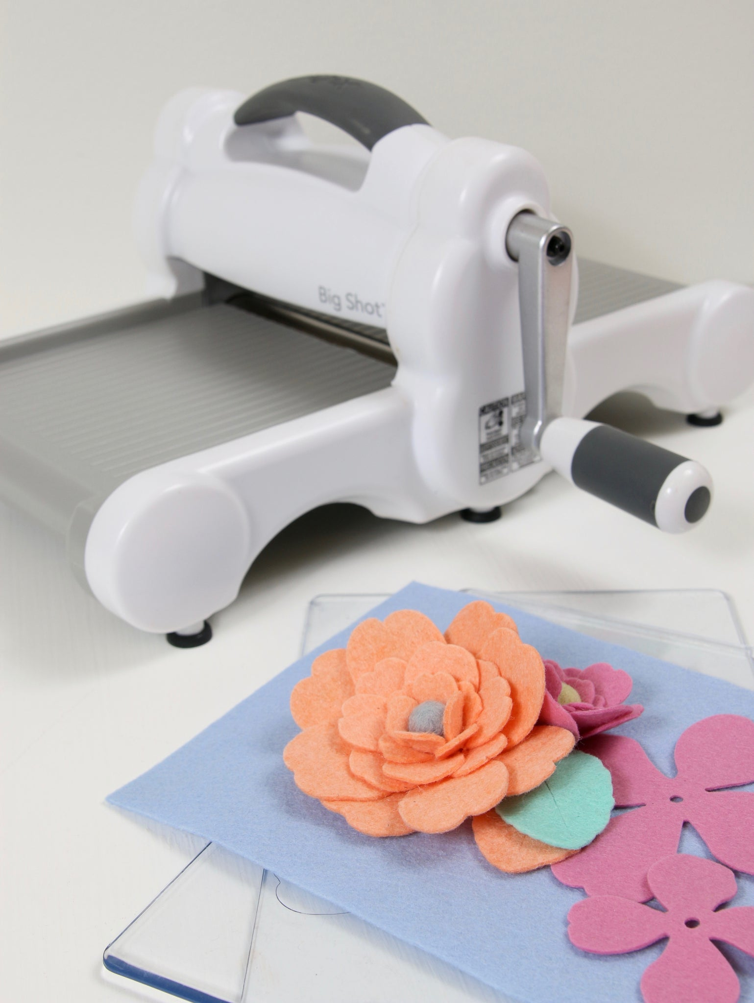 Easy die cut felt flowers
