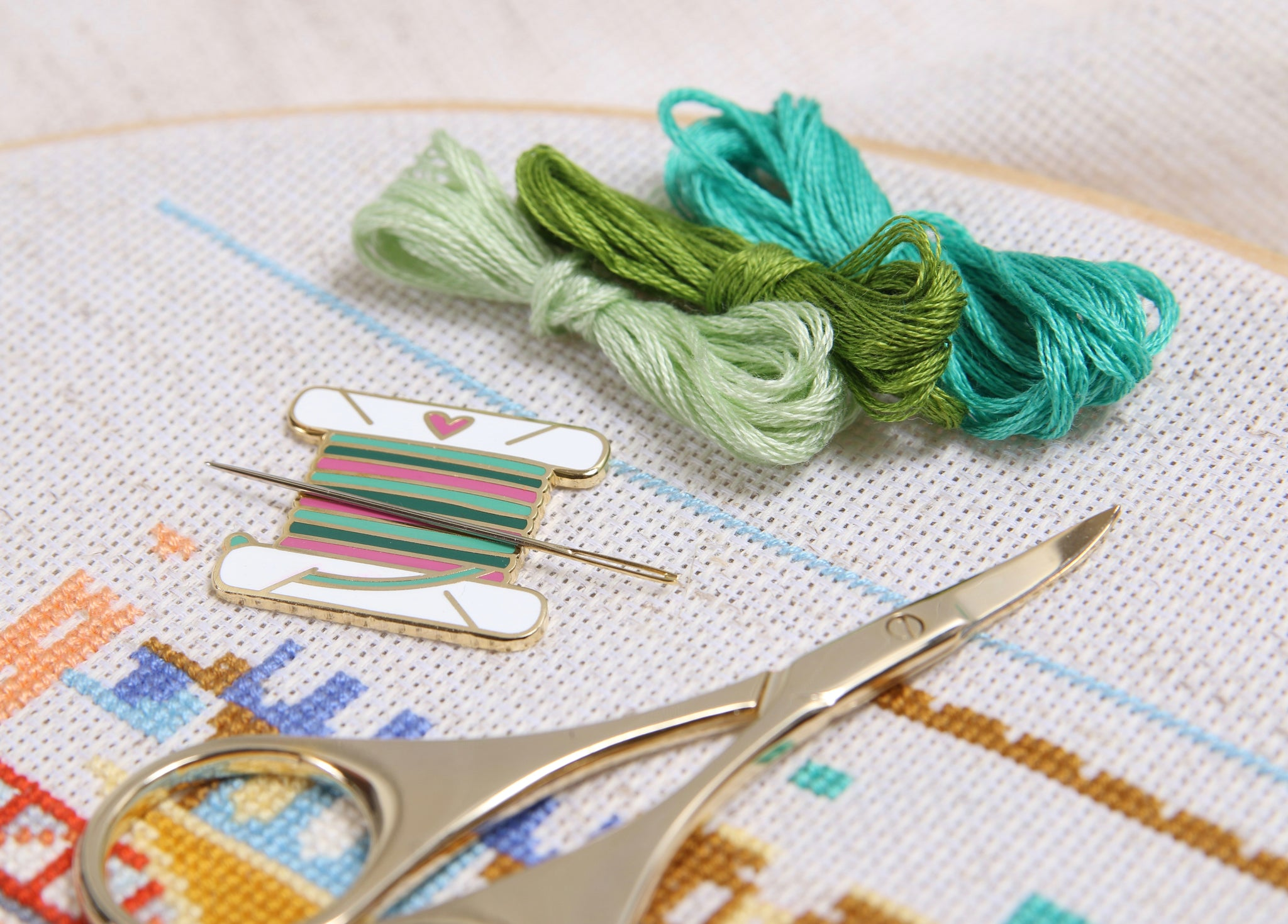 Needle Minder Embroidery Floss