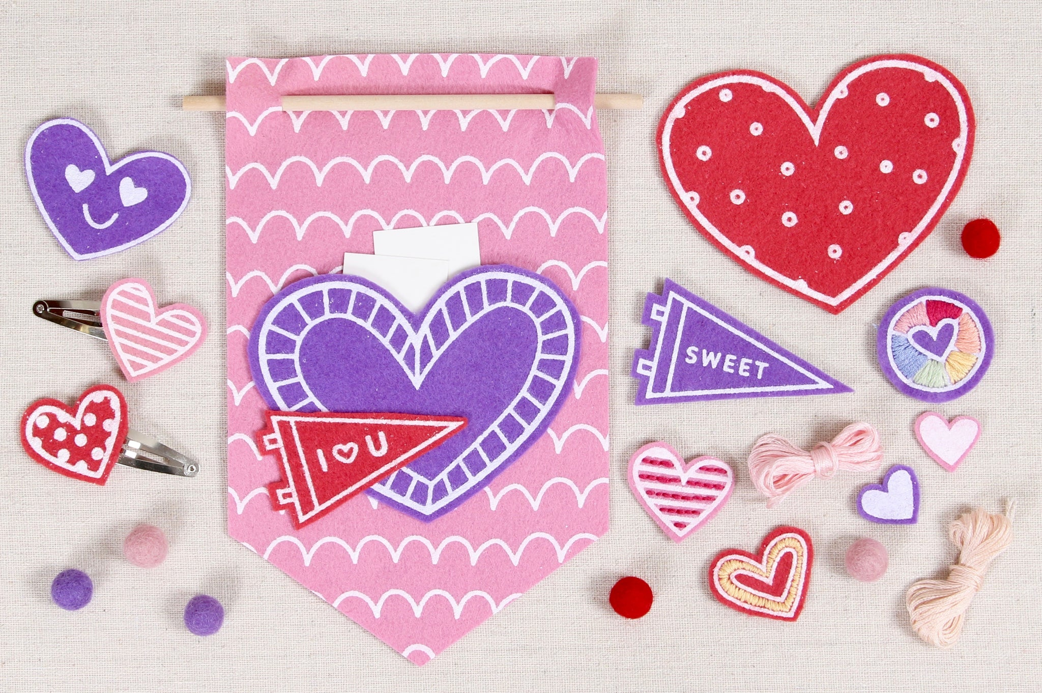 valentine crafts with felt