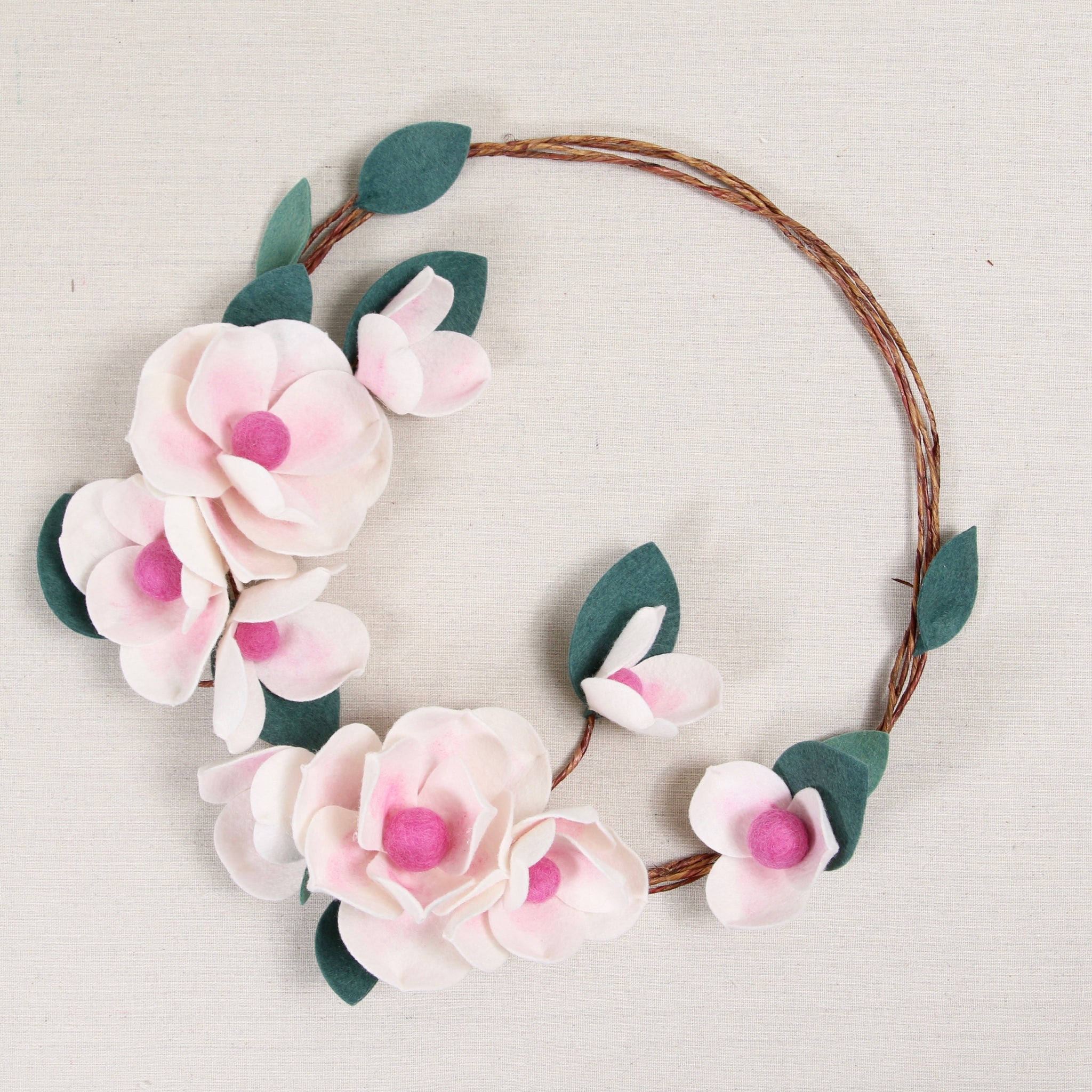 diy anemone wreath