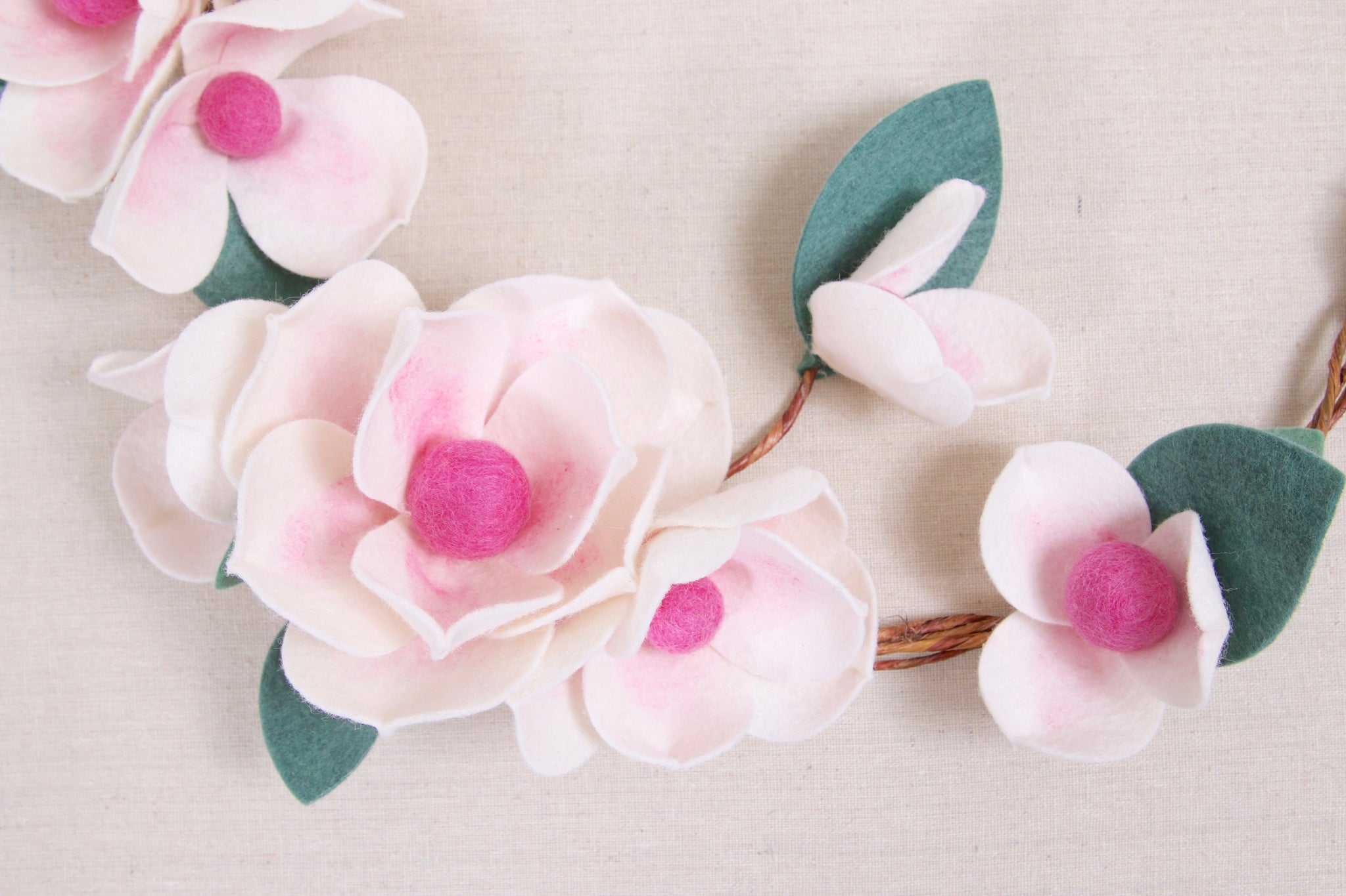 flower wreath diy