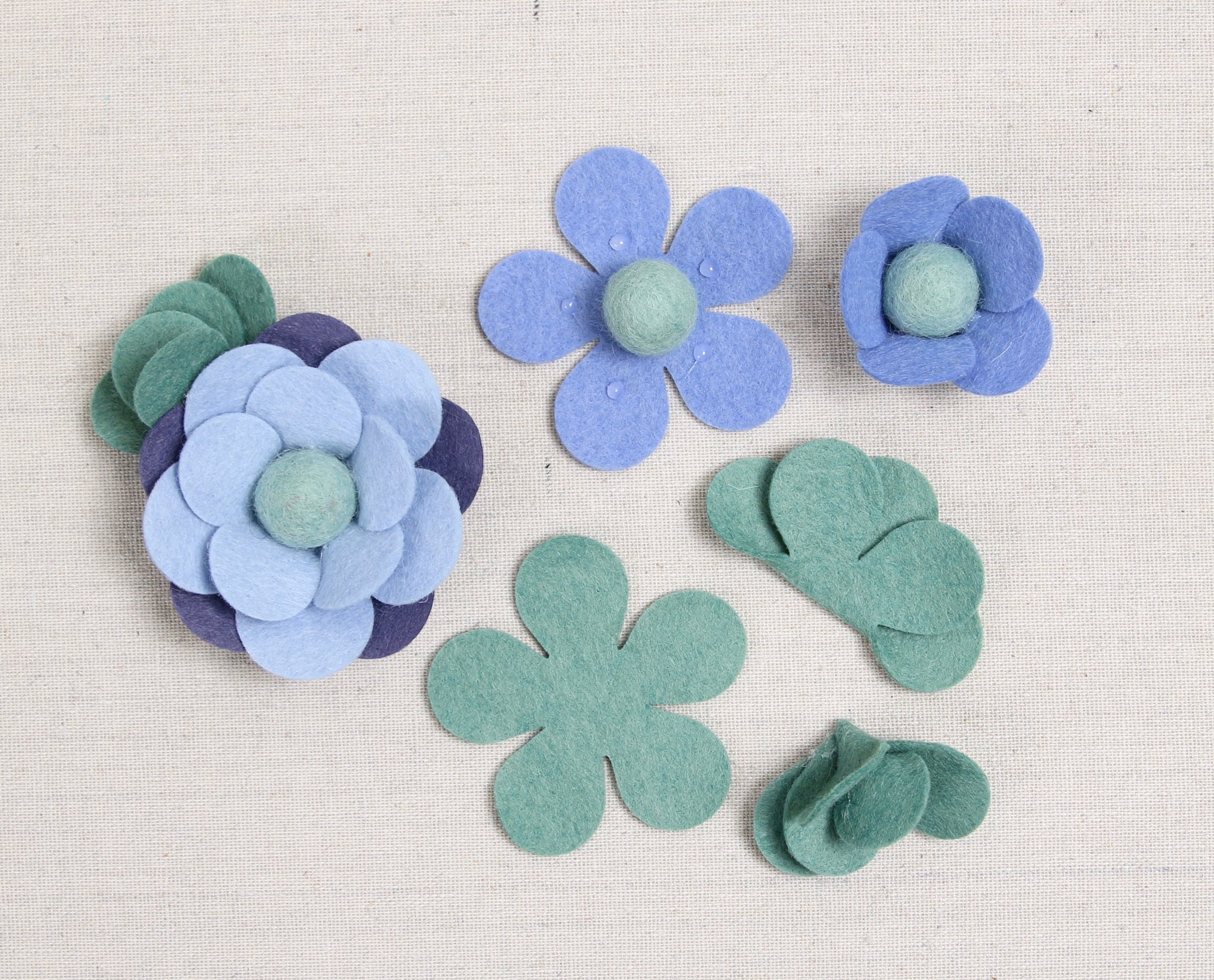Felt flowers made easy