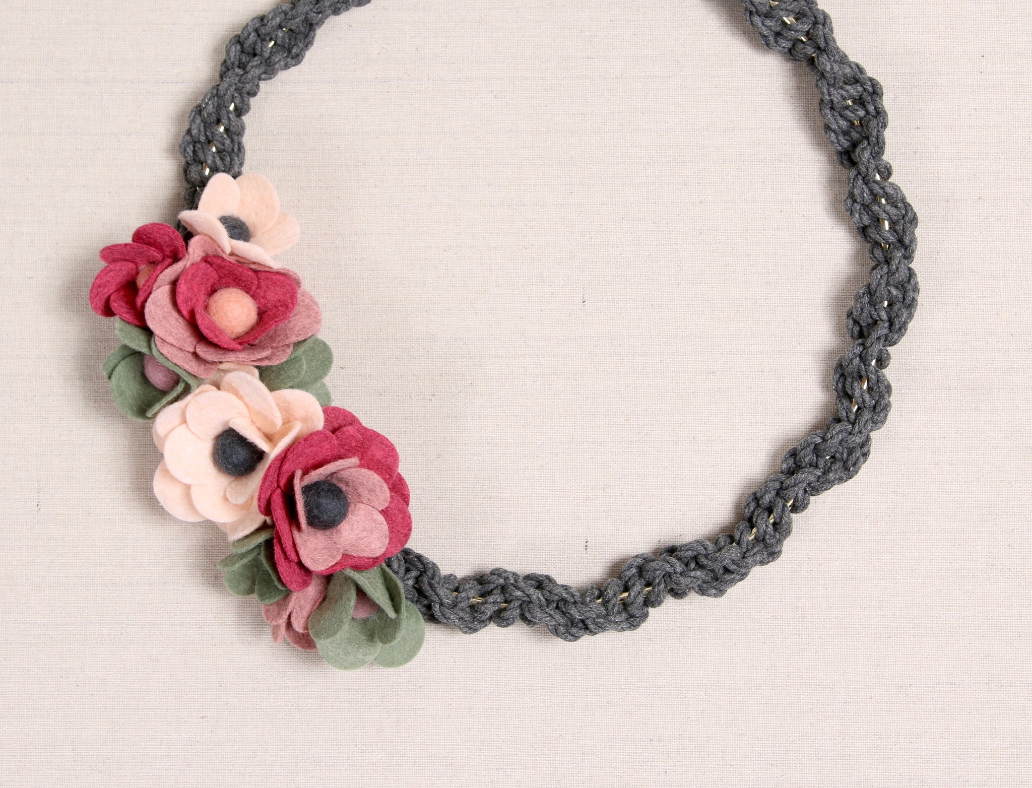 Flower and Macrame Wreath