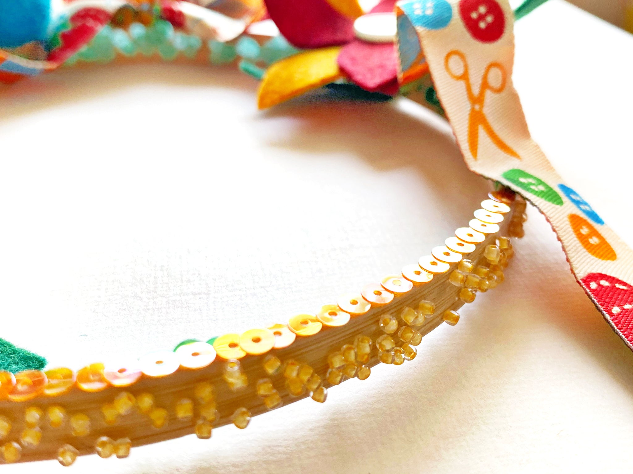 Attaching Sequins and Beads