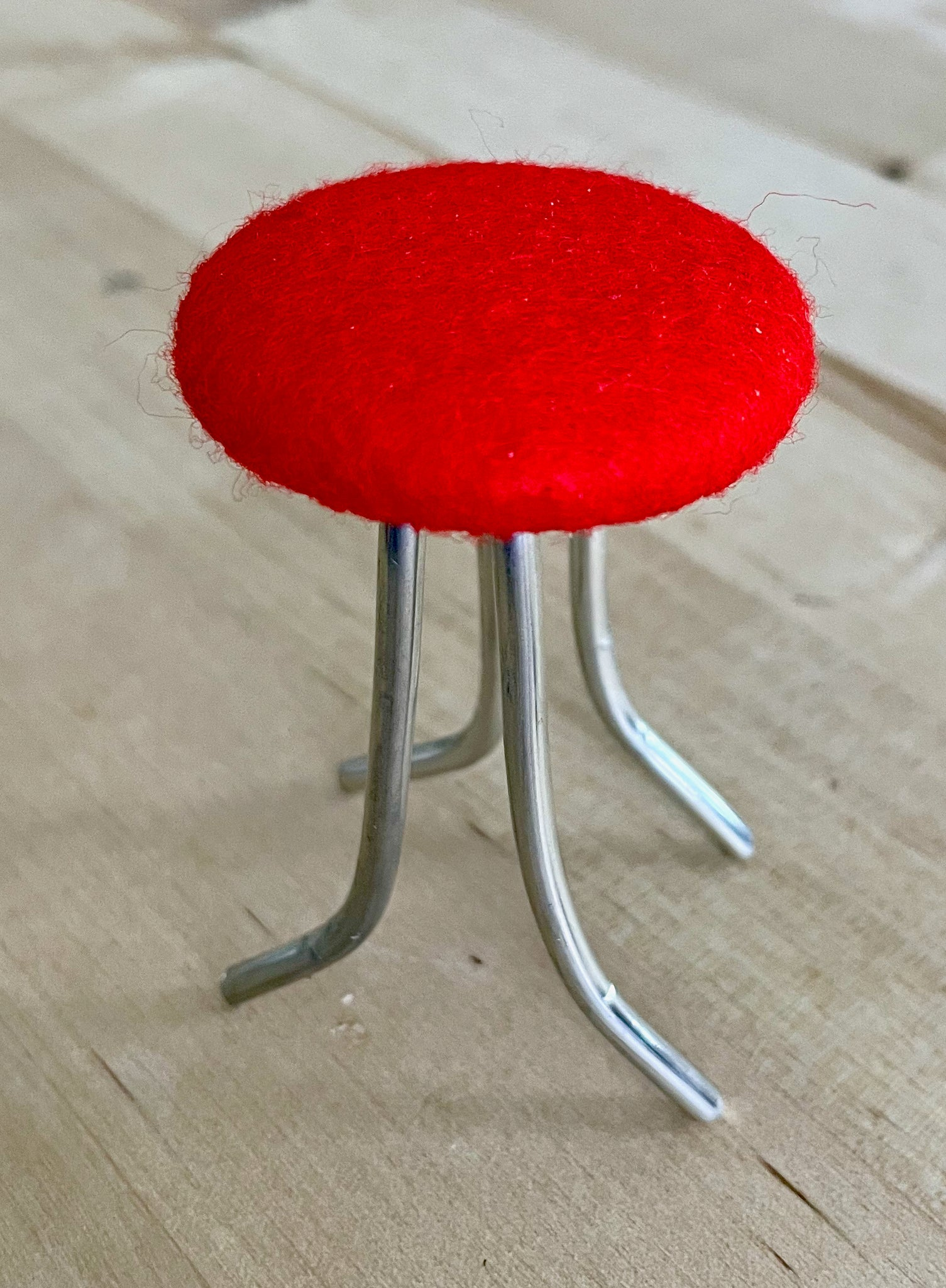 Miniature button and wire stool