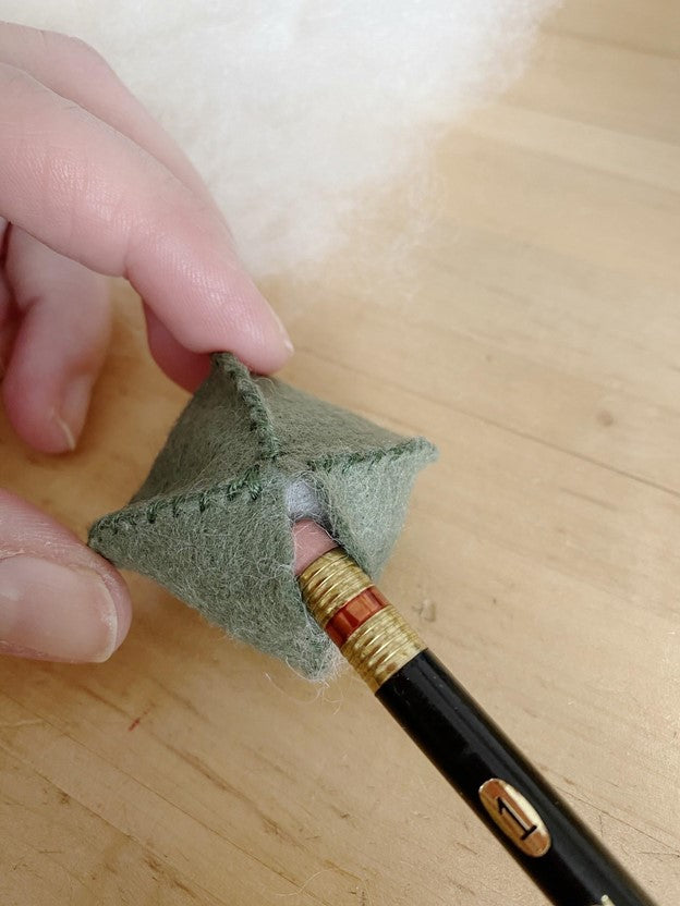 Stuffing with an eraser