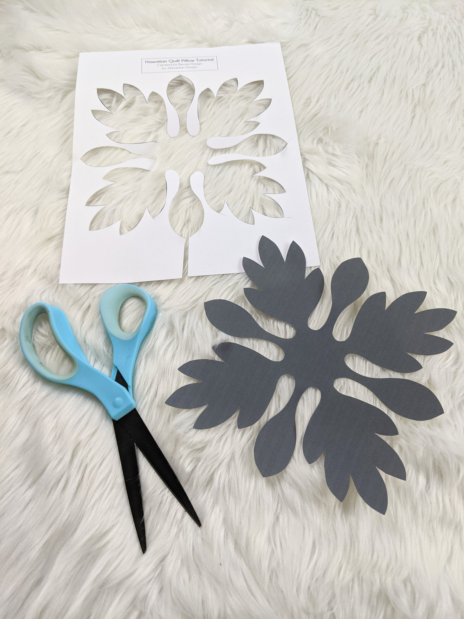 Cutting out decorative template