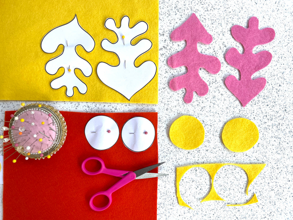 Cutting and pinning pattern pieces