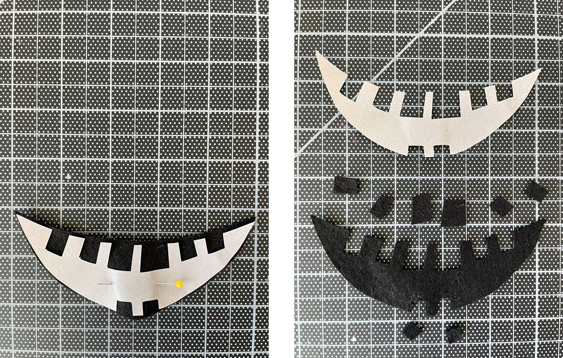 Cutting out crescent mouth