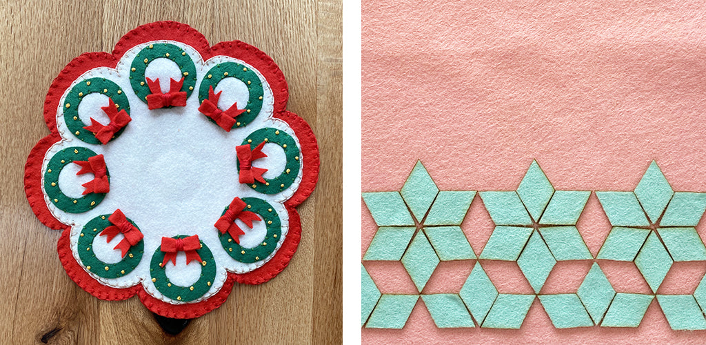 Wreath mat and diamond projects