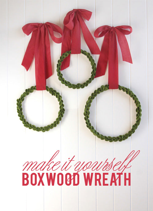 Felt Boxwood wreath diy