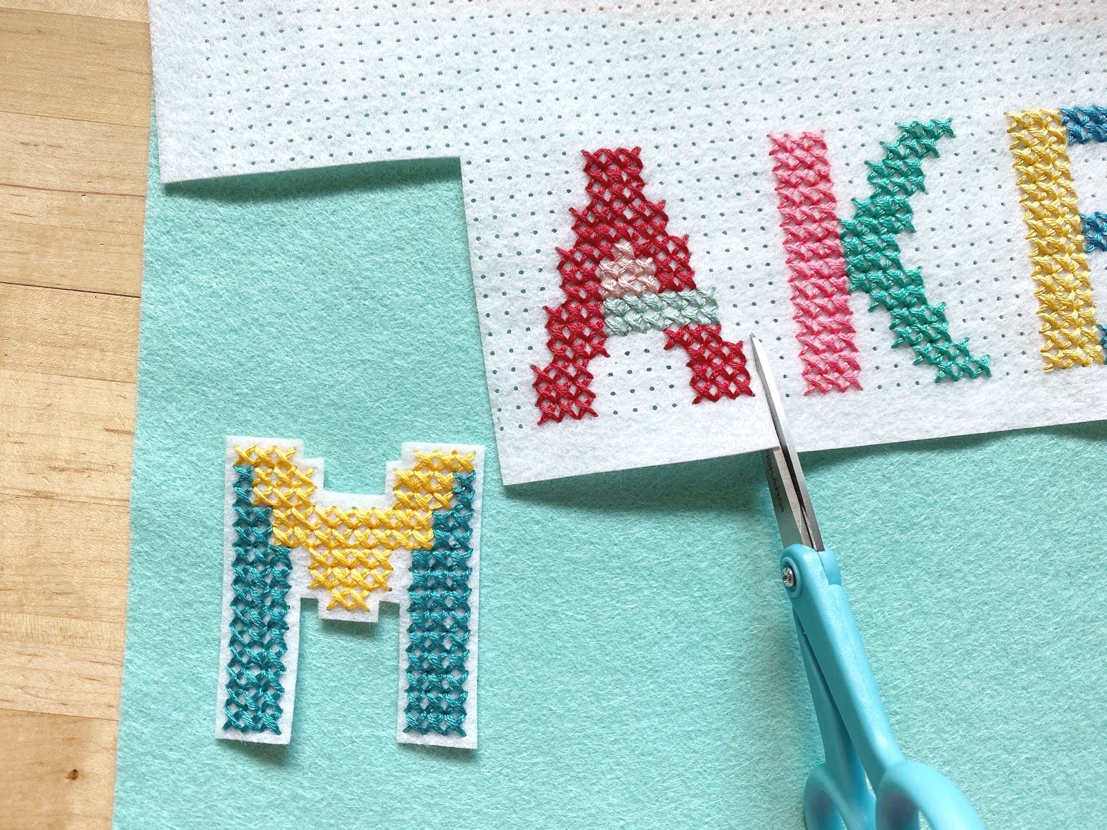 Felt letters to stitch