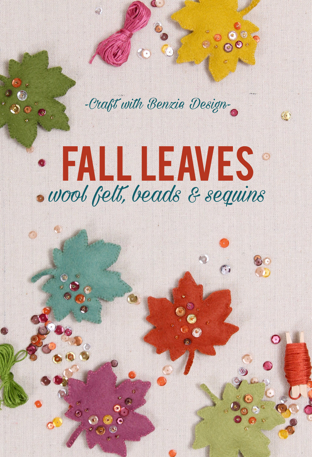 How to sew felt leaves